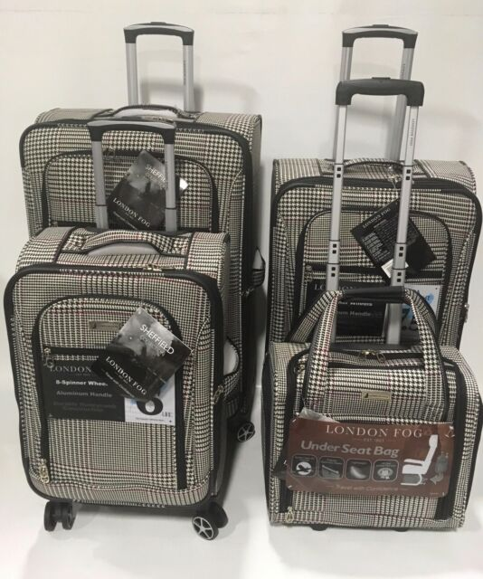London Fog Radius 4pc Light Luggage Set Expandable Black For Sale Online Ebay