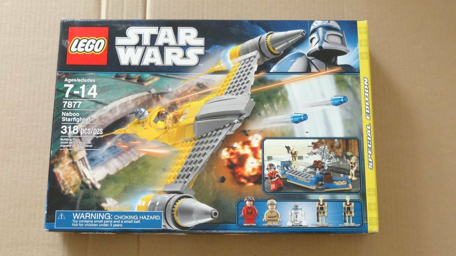 New - LEGO Star Wars 7877 Naboo Starfighter (Special Edition) - 318 pcs - NISB