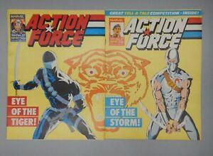 MARVEL Comics GI JOE #42 Action Force #40 #41 UK variant SNAKE EYES Stormshadow