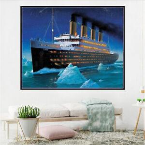 Arts Craft Titanic 5D Diamond Painting Full Drill Cross Stitch Embroidery Kit
