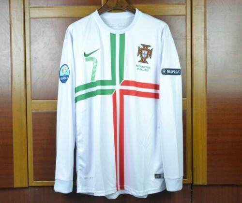 S M L XL PORTUGAL AWAY SHIRT EURO 2012 LONG SLEEVE NANI RONALDO QUARESMA