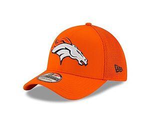 699b99a0e7bd7 NFL Denver Broncos New Era Hat 39Thirty Stretch Fit M L Orange 3930 ...