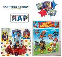 Paw Patrol Birthday Pack (banner, Wall Poster, Bouquet Balloon,table Decor Kit)