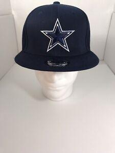 New-Era-9FIFTY-Adult-NFL-Dallas-Cowboys-Snapback-Hat-Cap-Navy-Blue-Solid-950-New