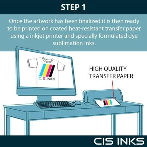 """CISinks 100 Sheets Sublimation Ink Heat Transfer Paper A4 8.27/""""x11.7/"""" Fast Dry"""