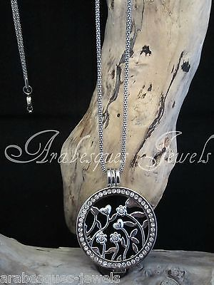 STUNNING GENUINE MI MILANO NECKLACE/PENDANT/KEEPER HEART/FLOWER/ONYX COIN/MONEDA