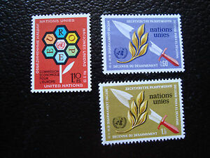 United-Nations-Geneve-Stamp-yt-N-27-30-31-N-A14-United-Nations