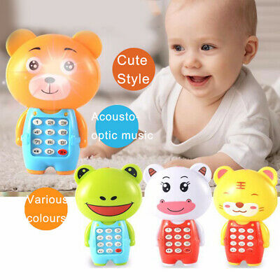 Cartoon Music Phone Children Toys Educational Learning Phone Gift for Kids Baby