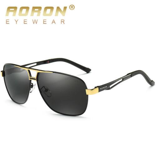 Mens Fashion Glasses Polarized Pilot Driving Sunglasses Brand Designer Eyewear