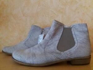 bequeme Semler Select Celsea Kurz Stiefelette NEU Gr. 10 44 H taupe & echt Leder