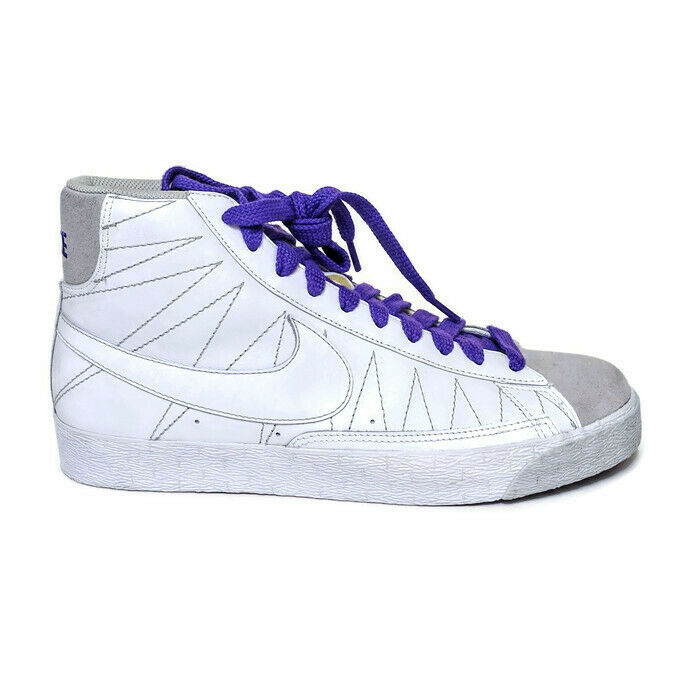 Nike Blazer Mid PURPLE WHITE US MENS SIZES 318642-111 Casual Sneaker High Top