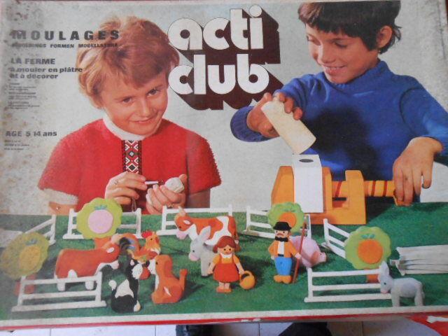 Board game MOULAGES Acti Club La Fattoria Big Set Forme Animali Vintage New
