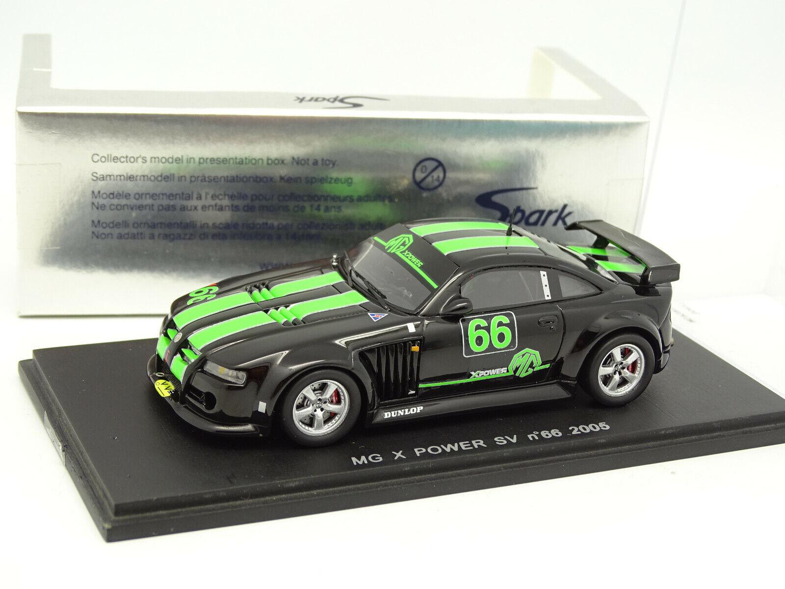 Spark 1 43 - MG X Power  SV 2005  66 noir vert  de gros