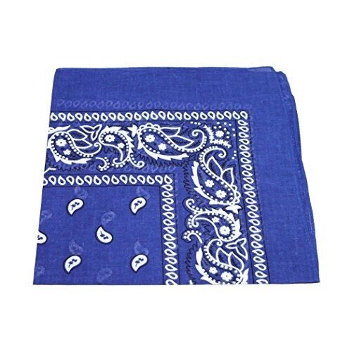 Bandana Kopftuch Tuch 100/% Baumwolle Halstuch Nickituch Paisley Royal Blue