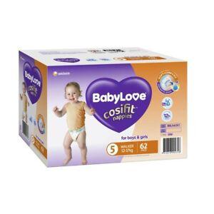Babylove Unisex Cosifit Walker Jumbo Nappy 12-17 Kg Size 5 62 pack