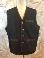 Madison Creek Outfitters Men's Vest Wool Blend Hunting Sz Xl Gray Brown Trim
