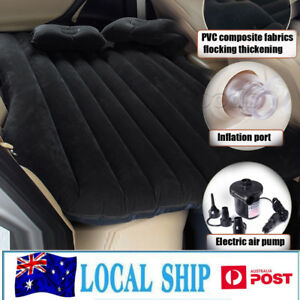 Inflatable-Car-Bed-with-2xPillows-amp-Air-Pump-for-Car-Back-Seat-Black-Camping-Bed