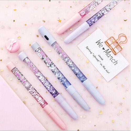 Gel pen 0.5mm fairy stick crystal drift sand glitter neutral rainbow coloredpT-G