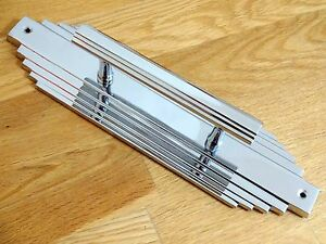 Image Is Loading Large Chrome Art Deco Pairs Door Pull Handles