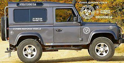 4x4 Bumper Zombie Hunters JEEP Land Rover x 2 20cm Big Zombie Outbreak Sticker