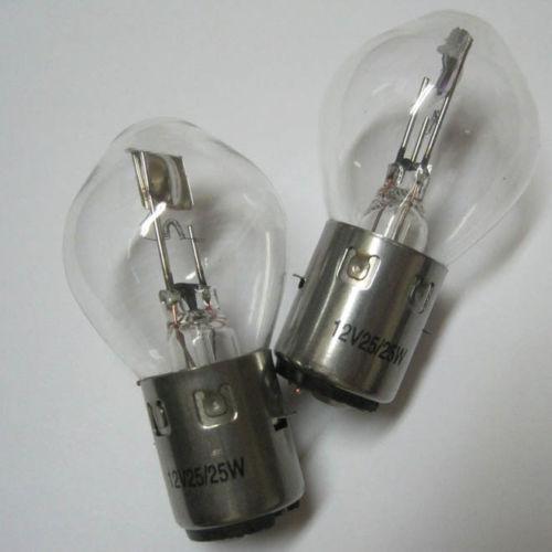 base A Pair S1 12V 25W//25W 12 Volt dual filament bulb with a BA20d Bosch-style