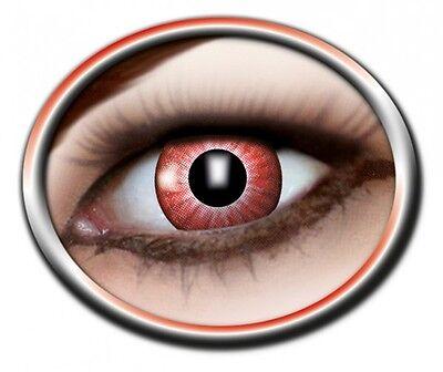 zoe ELECTRO RED lentille de couleur rouge lens contact vampire halloween NEW