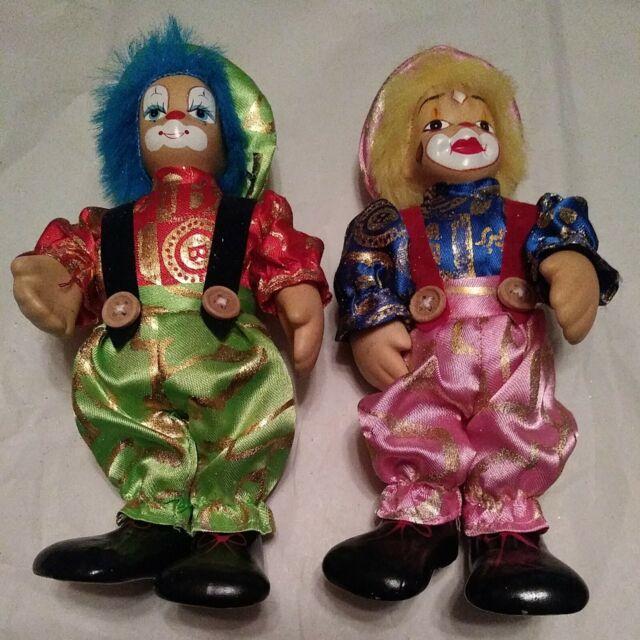 LOT 3 Vintage Clowns Collectible: Porcelain doll; Clowns