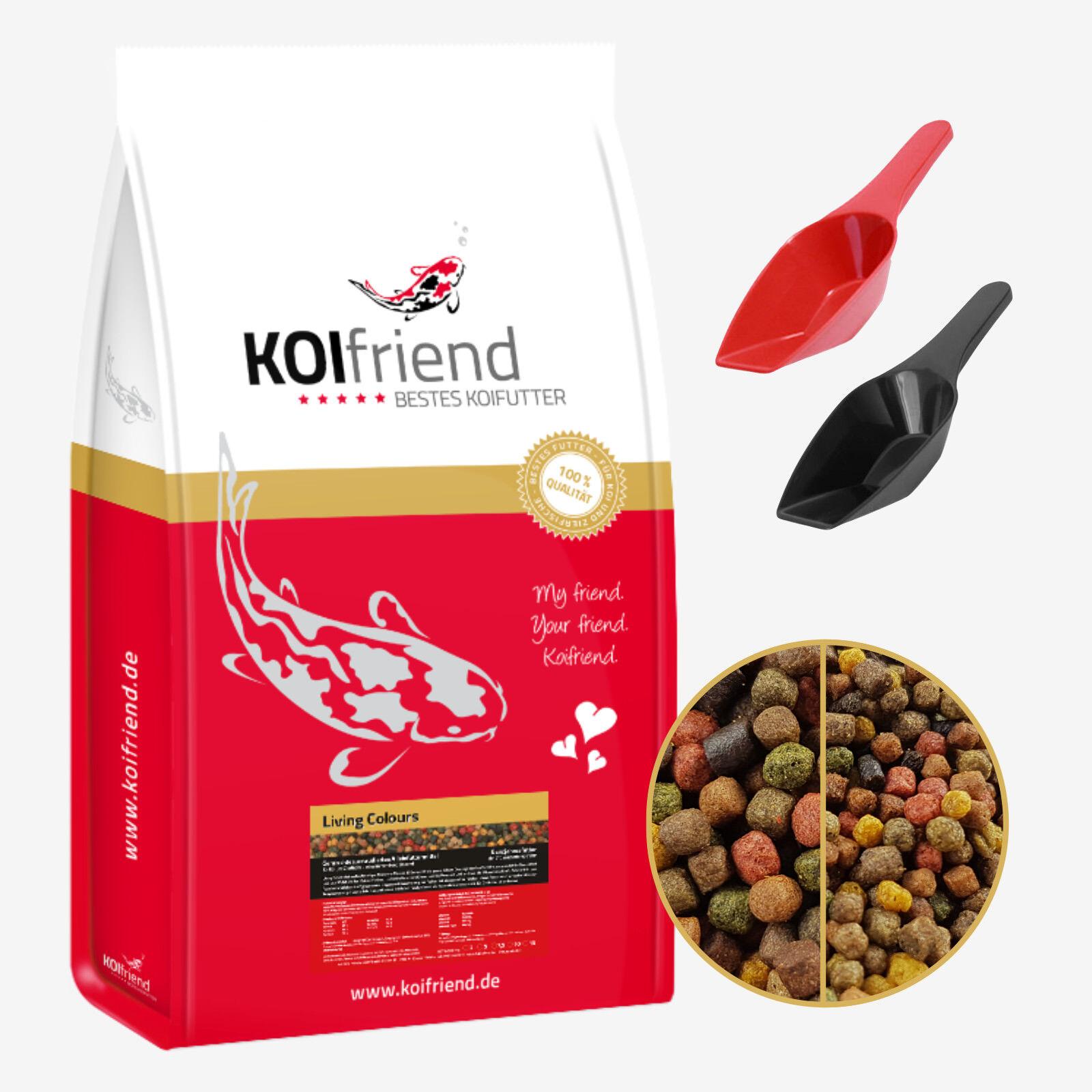 Koifutter 15 kg Living Colours 10 Sorten Mix Spirulina Paprika Fischfutter Koi