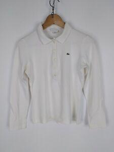 LACOSTE-Polo-Maniche-Lunghe-Maglia-Shirt-Polo-TAGLIA-40-Donna