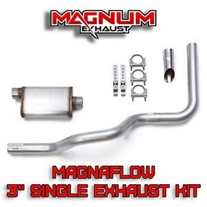 "07-15 Chevy Silverado Truck 3/"" Single Exhaust Kit Flowsound Stainless Muffler"