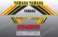YAMAHA 1985 YTM225DX 225 DX TRI-MOTO DECAL GRAPHIC KIT LIKE NOS YELLOW MODEL