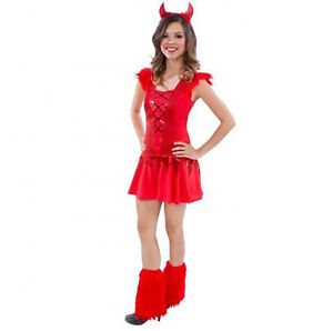image is loading girls teen red devil halloween fancy dress costume