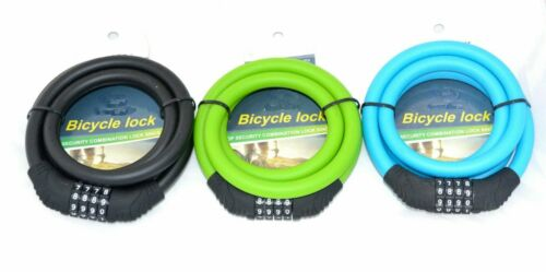 Strong Bicycle Lock Combination 4//5 Digits Braided Steel Cable for Bicycles Gate