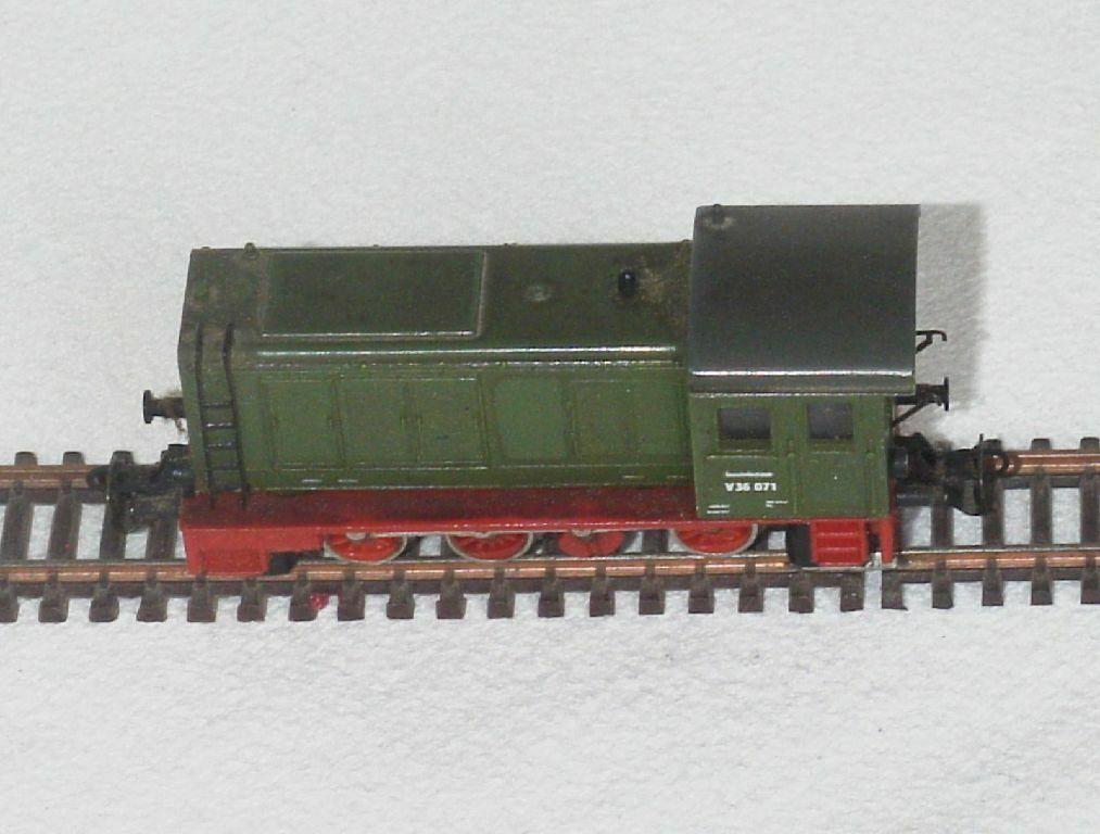 TT diesellok avanza br v36 071, Dr, verde, año 1971, OVP m. garantía