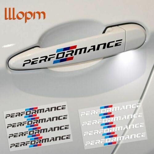 4Pcs//lot Car Styling Door Handle Stickers Performance Decoration For BMW