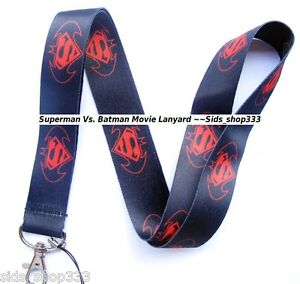 DC-comics-SUPERMAN-Vs-BATMAN-Lanyard-Neck-Strap-Keychain-ID-Badge-Holder
