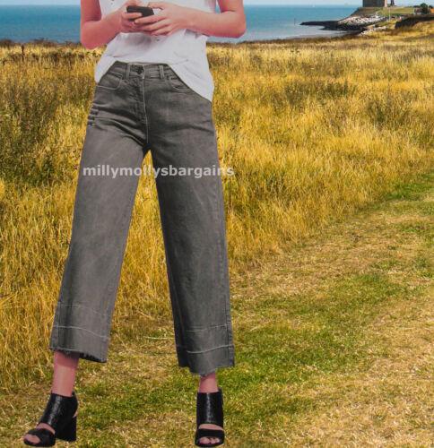 New Womens Green Ankle Wide Leg NEXT Jeans Size 14 12 10 Long Reg Petite RRP £30