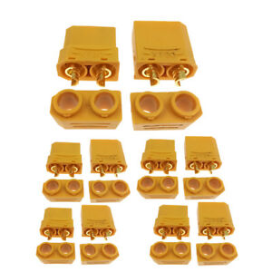 10x-XT90-Bullets-Connector-Male-Female-Plug-RC-LIPO-Battery-4-5mm-Protective-Cap