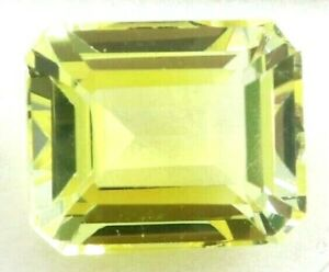 12.30 Ct Natural Yellow Sapphire Emerald Cut Certified Loose Gemstone