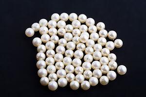 5 Stück Simulated Pearls ca. 7mm lose durchgebohrt / Box 4 Tüte 4