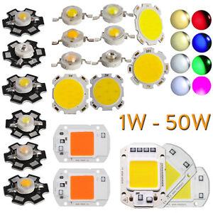 1x 10X Led Cob Chip Foco 1W 3W 5W 7W 20W 30W 50W Lámpara Crecimiento Planta