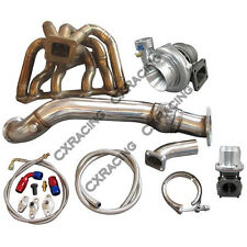 CXRacing Turbo Manifold Downpipe Oil Line Kit For SC300 1JZ-GTE VVTI 1JZGTE Swap