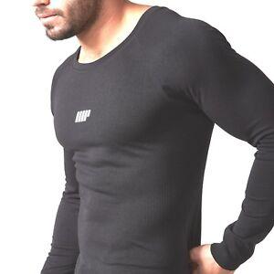 Myprotein-Sin-Costura-Camisa-Manga-Larga-Hombres-Negro-BLACK