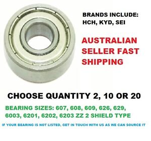 SEI QTY 2/10/20 PIECES ZZ 2 SHIELD METAL TYPE DEEP GROOVE BALL BEARING MANY USES