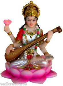 SARASWATI Goddess of Learning Hindu STATUE MINS | eBay