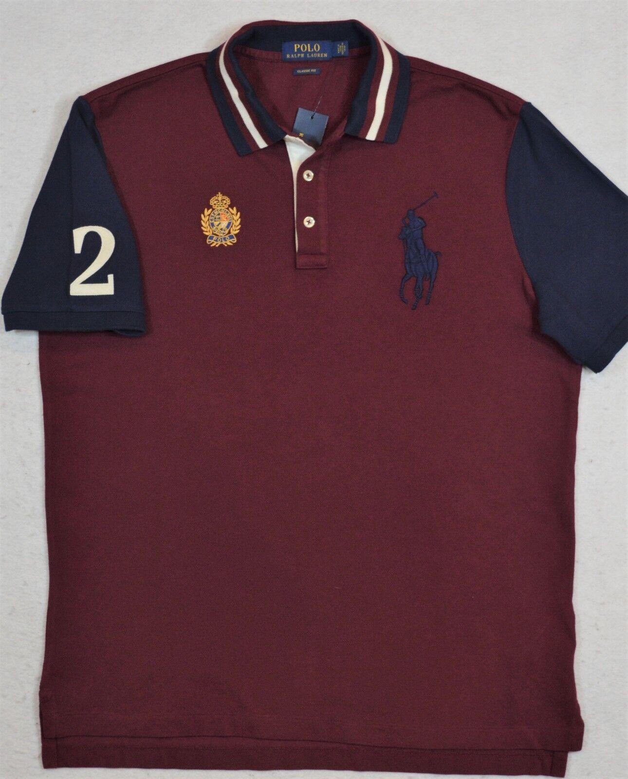 Polo Ralph Lauren Big Pony Crest Mesh Shirt L XL NWT