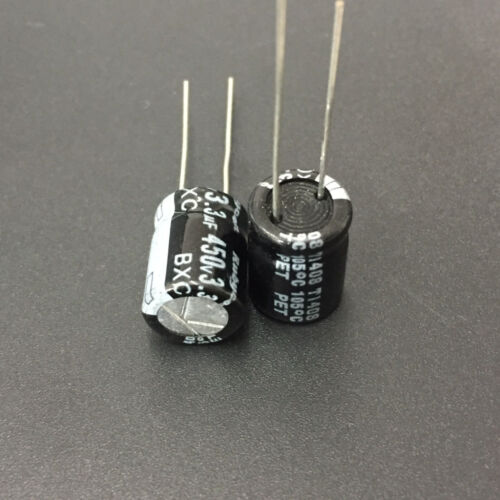 100pcs Rubycon BXC  450V3.3uF High Ripple Long Life Capacitor 3.3uF 450V 10x13mm