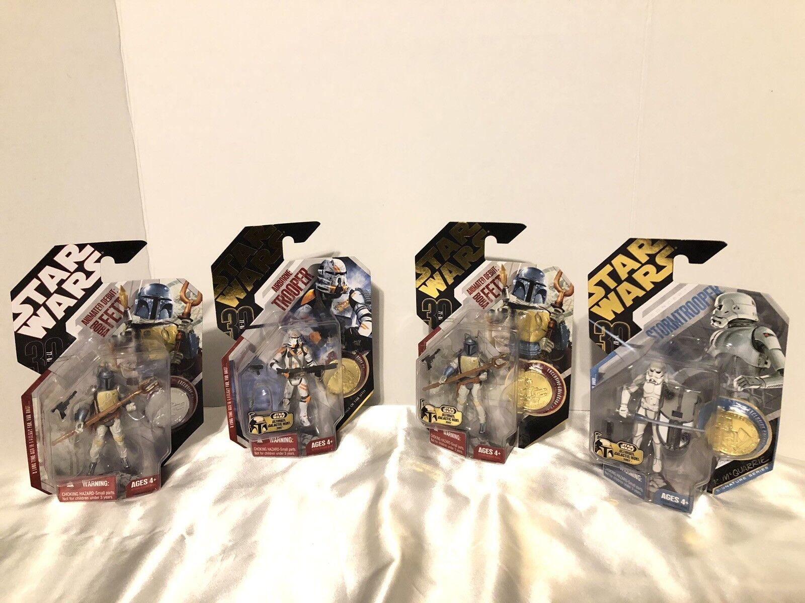 clásico atemporal Estrella Wars 30th aniversario Lote de 4 Fig Boba Boba Boba Fett Airborne Trooper Stormtrooper  el mas reciente