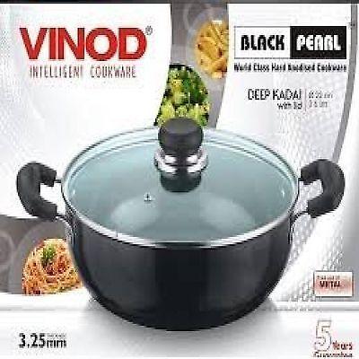 Vinod Hard Anodised Deep Kadai Karai Saucepan With Lid Very High Quality Item