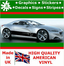 2* Peugeot Vinyl Decal Sticker Car Van Set Stripes Graphic Sport  Viper RACING 3